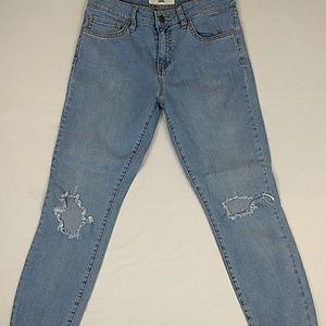 Vans Women's Distressed Skinny Crop/Ankle Jeans